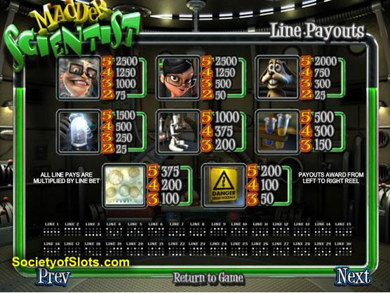 Mad Science Slot Machine - Try the Free Demo Version