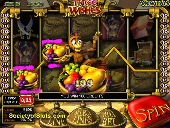 3 Genie Wishes Slot - Free to Play Demo Version
